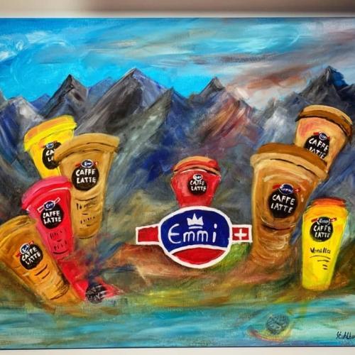 Emmi CAFFÈ LATTE kézzel készített festmény